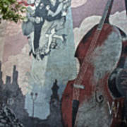 Tango And The Double Bass Art Print