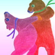 Tango Bears Art Print