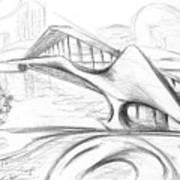 Tango Bridge. 27 March, 2015 Art Print