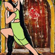 Tango Green Art Print