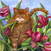 Tango In The Tulips Art Print