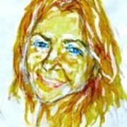 Tania Helft, Portrait Art Print