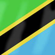 Tanzania Flag Art Print