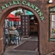 Taos Alley Cantina Art Print
