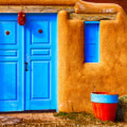 Taos Doorway Art Print