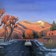 Taos In The Golden Hour Art Print