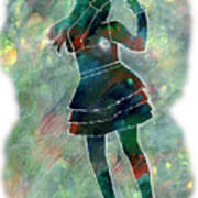 Tap Dancer 1 - Green Art Print