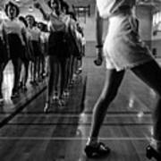 Tap Dancing Class In The Gymnasium Art Print by Everett