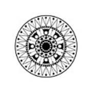Tapiz Black And White Art Print