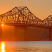 Tappan Zee Bridge At Sunset I Art Print