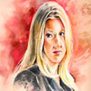 Tara Summers In Boston Legal Art Print