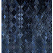 Targyle Pitch Black Pattern 1 Art Print