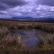 Tarn On The Slopes Of Whernside With Pen-y-ghent On The Horizon Yorkshire Dales England Art Print