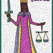 Tarot Of The Younger Self Justice Art Print