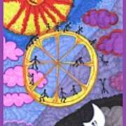 Tarot Of The Younger Self The Wheel Art Print