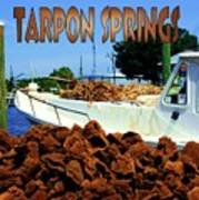 Tarpon Springs Postcard Art Print
