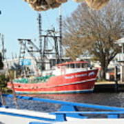 Tarpon Springs Shrimp Boat Art Print
