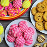 Tasty Assortment Of Cookies Art Print