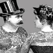 Tattooed Victorian Lovers Art Print