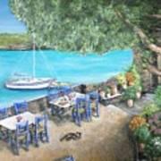 Taverna On Crete  Art Print