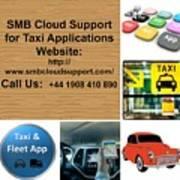 Taxi Booking Application Art Print