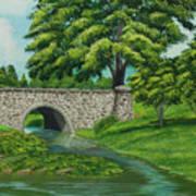 Taylor Lake Stone Bridge Art Print