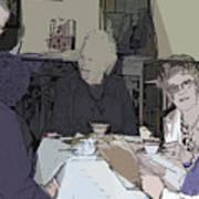Tea Time At Sue's Art Print