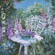 Tea Time In The Garden Art Print