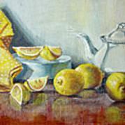 Tea With Lemon Art Print