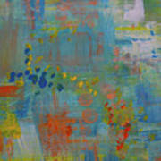 Teal Abstract, A New Look Again Art Print