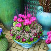 Teal Vases Art Print
