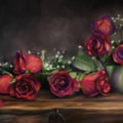 Teapot Roses Art Print