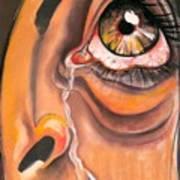 Tear Art Print by Yxia Olivares