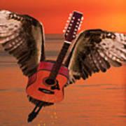 Teardrops On My Guitar Rocks Print by Eric Kempson