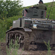 Tearing It Up - M3 Stuart Light Tank Art Print