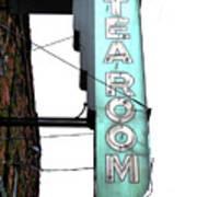 Tearoom Sign Art Print