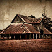 Teaselville Texas Barns Art Print