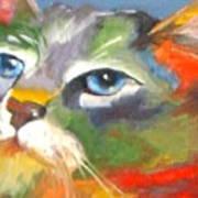 Technicolor Tabby Art Print
