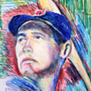 Ted Williams Boston Redsox  Art Print by Jon Baldwin  Art