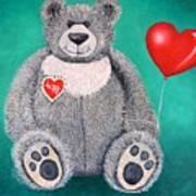 Teddy Bear Eli Art Print