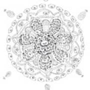 Teddy Bear Mandala Art Print