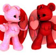 Teddy Bearz Valentine Art Print