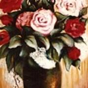 Ted's Flowers Art Print
