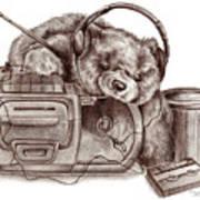 Teenage Bear Art Print