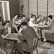 Teens At A Diner, C. 1950s Art Print