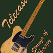 Telecaster Therapy T-shirt Art Print