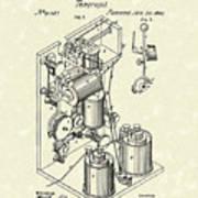 Telegraph 1869 Patent Art Art Print by Prior Art Design