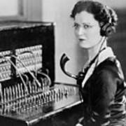 Telephone Operator Print by General Photographic Agency