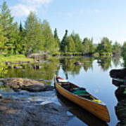 Temperance River Portage Art Print by Larry Ricker