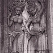 Temple Dancers Art Print